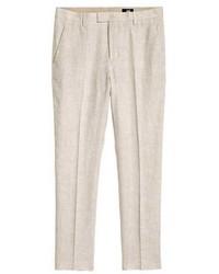 H&M Linen Suit Pants Slim Fit