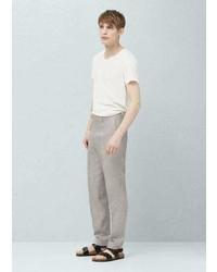 Slim fit linen suit trousers medium 5023645