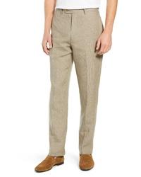 John W. Nordstrom Torino Solid Linen Trousers
