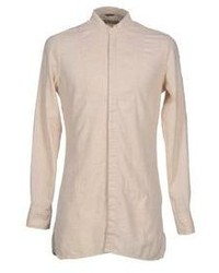 Beige Linen Long Sleeve Shirt