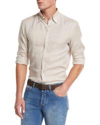 Ermenegildo Zegna Linen Sport Shirt Sand