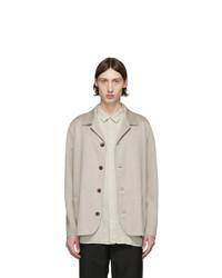 Harris Wharf London Beige Linen Overshirt Jacket