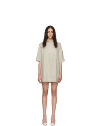 Georgia Alice Off White Linen Pierre Shirt Dress