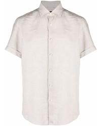 Ermenegildo Zegna Linen Short Sleeve Shirt