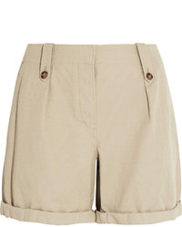Burberry Brit Cotton And Linen Blend Shorts