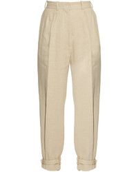 Hillier bartley ankle strap high rise linen blend trousers medium 1253261