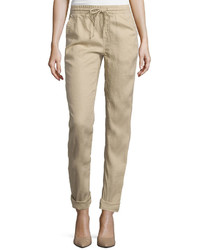 Stylus Stylus Drawstrong Linen Pants Tall