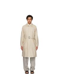 Giorgio Armani Beige Linen Trench Coat