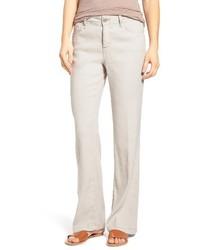 NYDJ Petite Wylie Five Pocket Linen Trousers