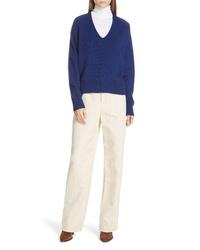 Vince Seam Front Cotton Linen Wide Leg Pants