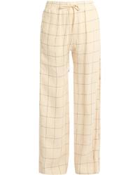 Zimmermann Stranded Threadbare Wide Leg Linen Trousers