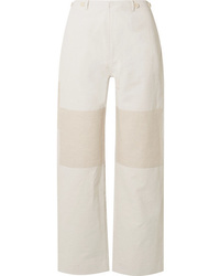 TRE by Natalie Ratabesi The Missy Two Tone Linen And Cotton Blend Wide Leg Pants