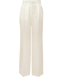 Gabriela Hearst Vargas Linen And Wide Leg Pants
