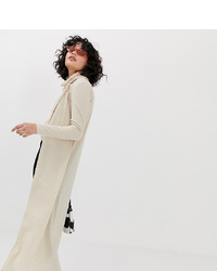 Another Reason Ribbed Maxi Cardigan With Collar