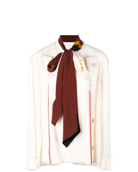 Marni Scarf Detail Buttoned Top