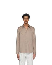 Tibi Beige Eco Poplin Classic Shirt
