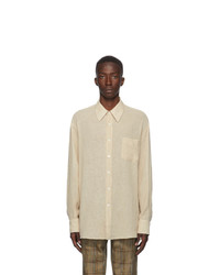 Our Legacy Beige Sheer Less Borrowed Shirt
