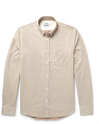 Acne Studios Isherwood Button Down Collar Brushed Cotton Twill Shirt