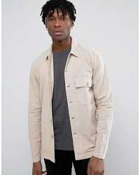 Asos Worker Overshirt In Beige