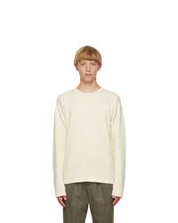 Jil Sander Beige Panelled Long Sleeve T Shirt