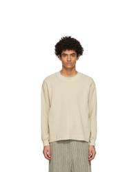 Nicholas Daley Beige Waffle Sweatshirt