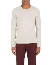 Loro Piana Cotton Jersey Long Sleeve T Shirt