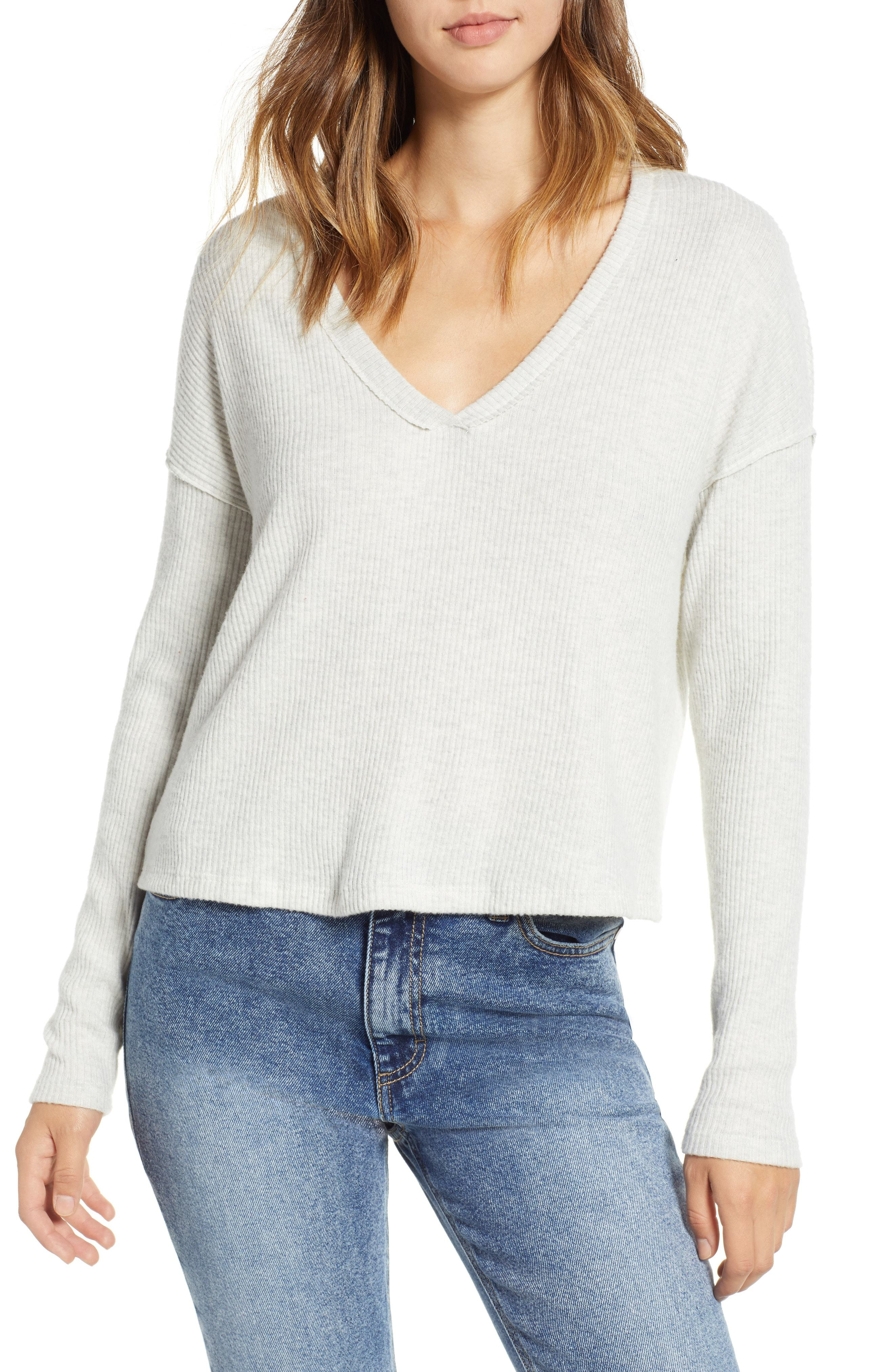 PST by Project Social T Drop Shoulder Ribbed Top