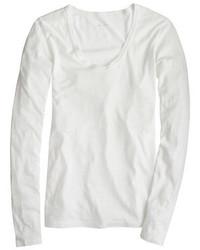 J.Crew Petite Vintage Cotton Long Sleeve Scoopneck T Shirt