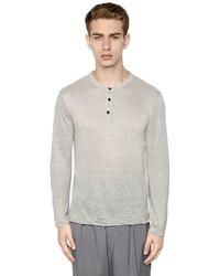 Giorgio Armani Linen Jersey Long Sleeve T Shirt