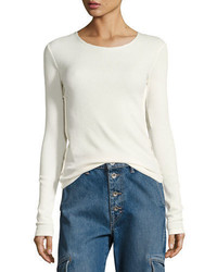 Vince Long Sleeve Pima Cotton Shirttail Tee