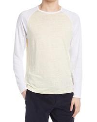 Vince Raglan Baseball Linen T Shirt