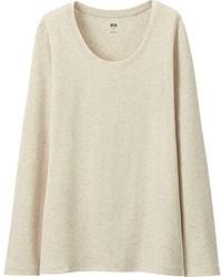 Uniqlo Supima  Cotton Crewneck Long Sleeve T Shirt