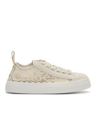 Chloé Beige Lace Lauren Sneakers