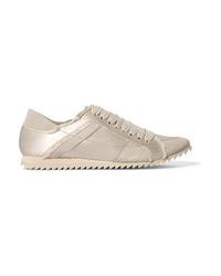 Pedro Garcia Cristina Frayed Med Satin Sneakers