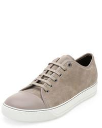 Matte cap toe low top sneaker beige medium 452488