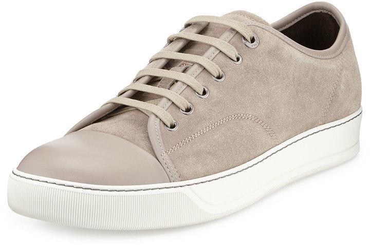 Lanvin Matte Cap Toe Low Top Sneaker