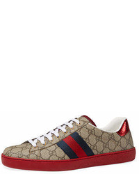 Gucci New Ace Gg Supreme Low Top Sneakers