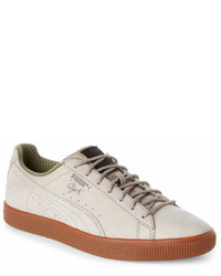 Puma Vintage Khaki Clyde Winter Low Top Sneakers