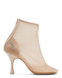 MM6 MAISON MARGIELA Beige Mesh Ankle Boot