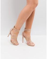 Public Desire Mesh Caged Heeled Sandals
