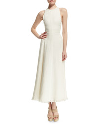 Ralph Lauren Collection Rosalyn Racerback Midi Dress Cream