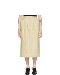 Lemaire Off White Denim Baggy Skirt
