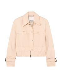 3.1 Phillip Lim Stretch Cotton Blend Canvas Jacket
