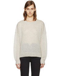 Beige Mohair Crew-neck Sweater