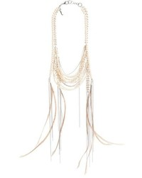 Fabiana Filippi Feather Glass Bead Necklace