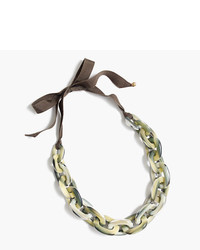 J.Crew Oval Lucite Necklace