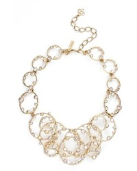 Oscar de la Renta Circular Crystal Frontal Necklace