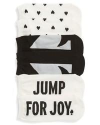 kate spade new york 3 Pack Jump For Joy No Show Socks
