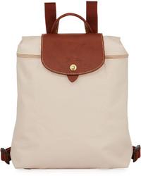 Longchamp Le Pliage Nylon Backpack Cream
