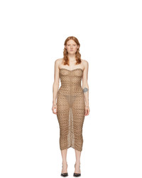 Miaou Beige Mesh Renzo Dress